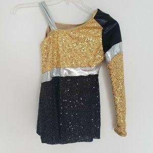 Girls Balera Sequin Dance Costume Dress Up Cheer
